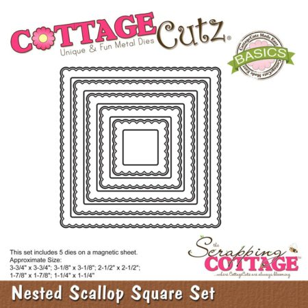 Cottage Cutz - Nested Scallop Square - CCB-052