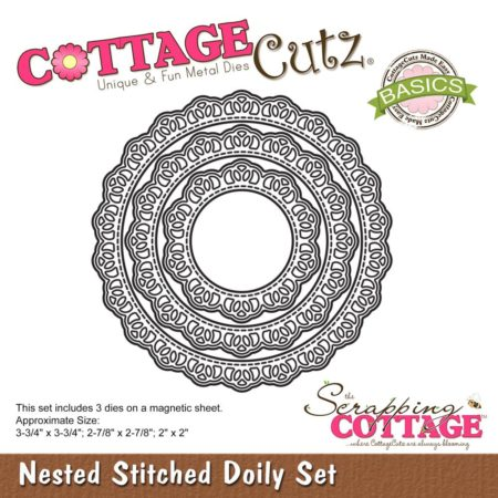 Cottage Cutz -Nested Stitched Stitched Doily Set - CCB-055