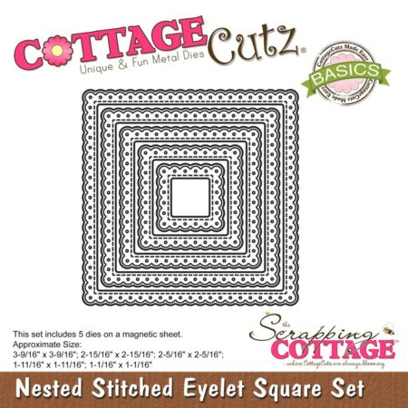 Cottage Cutz - Nested Stitched Eyelet Square - CCB-060