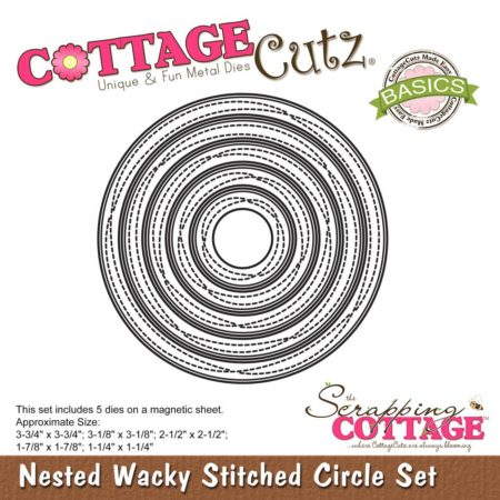 Cottage Cutz - Nested Wacky Stitched Circle - CCB-069
