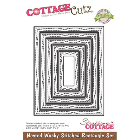 Cottage Cutz - Nested Wacky Stitched Rectangle - CCB-071