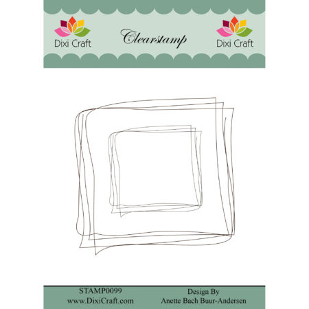 Dixi Craft - Clear Stamp Sketch - Square - STAMP0099