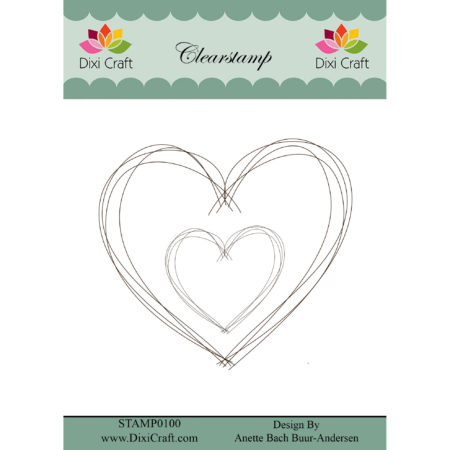 Dixi Craft - Clear Stamp Sketch - Heart - STAMP0100