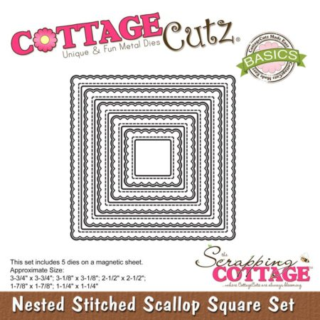 Cottage Cutz - Nested Stitched Scallop Square - CCB-066