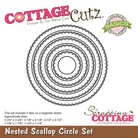 Cottage Cutz - Nested Scallop Circle Set - CCB-049