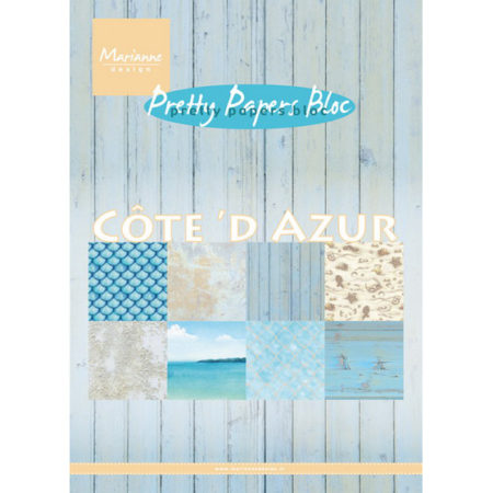 Marianne Design - Cote d'Azur - Pretty Papers bloc - PK9146