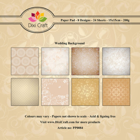Dixi Craft - Paper Pad - Wedding - PP0084