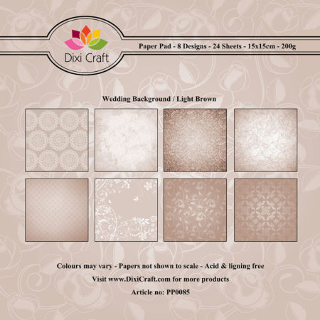 Dixi Craft - Paper Pad - Wedding Background – Light Brown - PP0085