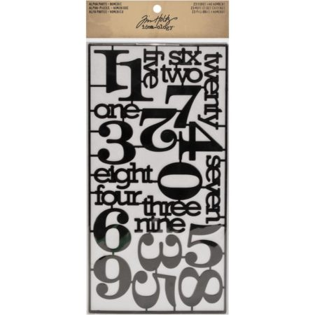 Idea-Ology - Alpha Partes - Numeric Words & Numbers Black - TH93074