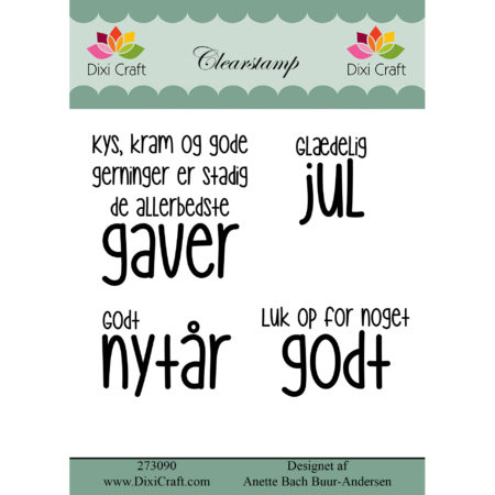 Dixi Craft - clearstamp - Tekst - 273090