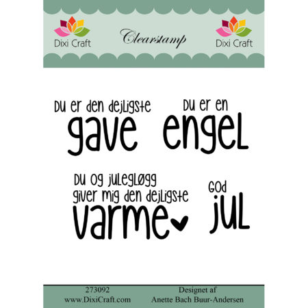 Dixi Craft - clearstamp - Tekst - 273092