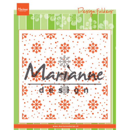 MARIANNE DESIGN - FOLDER & DIE - Snow and Ice Crystals - DF3440
