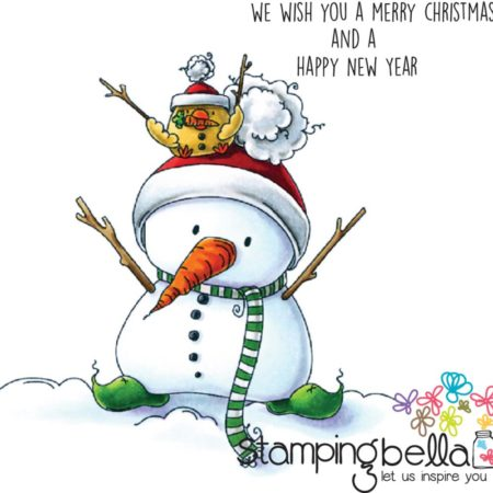 Stampingbella - Snowman With Chick On Top - EB440