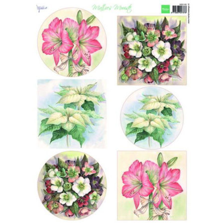 Marianne Design - 3D - Mattie's Mooiste Christmas Flowers - MD0168