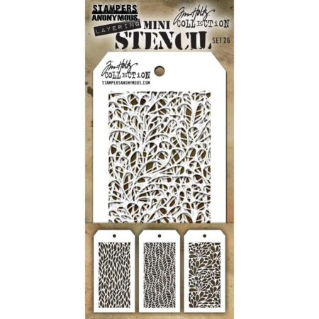 Tim Holtz - Layering stencil - Mini Set 26 - SET 26