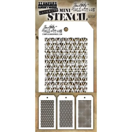 Tim Holtz - Layering stencil - Mini Set 27 - SET 27