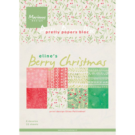 Marianne Design - Pretty Papers bloc - Berry Christmas - PB7053