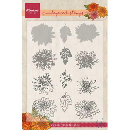 Marianne Design Layering - Tiny's Chrysant - TC0858