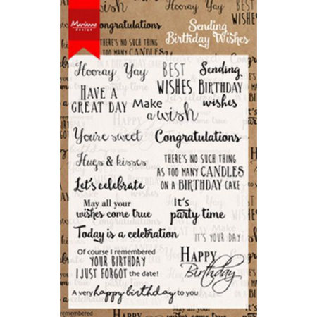 Marianne Design - Birthday Wishes - CS0996