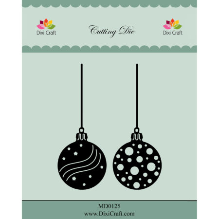 Dixi Craft Dies - Christmas Baubles - MD0125
