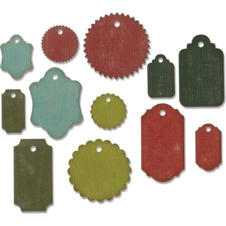 Sizzix Thinlits Dies By Tim Holtz - Gift Tags - 662423