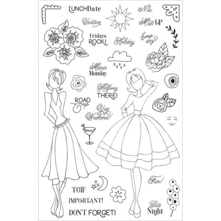 Prima - Julie Nutting Planner Clear Stamps - Calendar musts - 911706