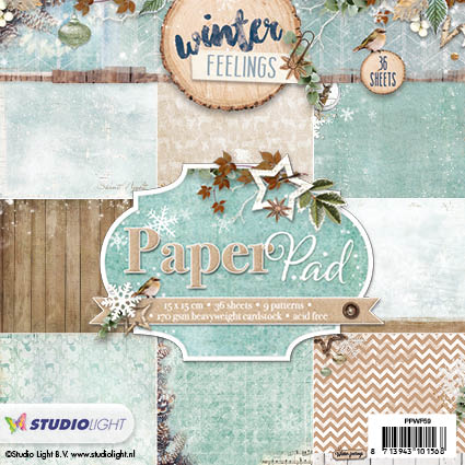 Studio Light - Papirblok - Winter Feelings - PPWF59