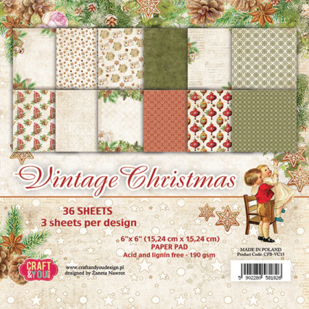 Craft & You Design - Vintage Christmast - CPB-VC15