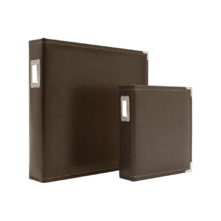 Sn@p! faux Leather Binder - Brown - 4040