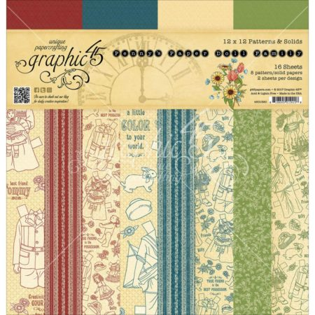 Graphic 45 - Double-Sided Paper Pad - Penny's Paper Doll Family - 4501590