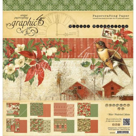 Graphic 45 - Double-Sided Paper Pad - Winter Wonderland - 4501606