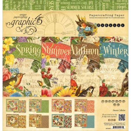 Graphic 45 - Double-Sided Paper Pad - Seasons - 4501624
