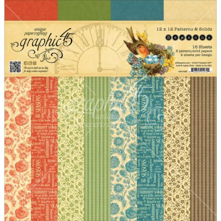 Graphic 45 - Double-Sided Paper Pad - Seasons - 4501625