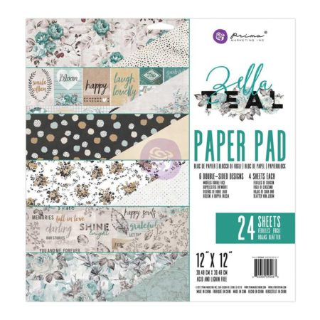 """Prima - Zella Teal Collection - 12 x 12"""" - 595663"""