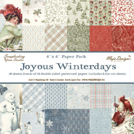 "Maja Design - Joyous Winterdays - Paper stack 6 x 6"" - 949"