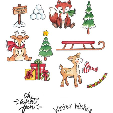 CottageCutz - Stamp & Die Set - Snow Friends - CCS-042