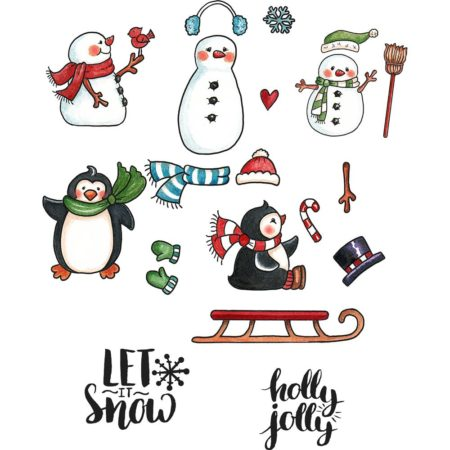 CottageCutz - Stamp & Die Set - Snow Fun - CCS-043