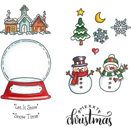 CottageCutz - Stamp & Die Set - Snowglobe Fun - CCS-044