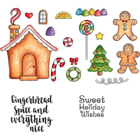 CottageCutz - Stamp & Die Set - Sweet Gingerbread - CCS-045