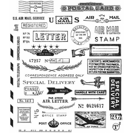 Tim Holtz -Cling Stamps - Correspondence - CMS225