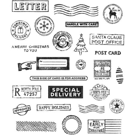 Tim Holtz -Cling Stamps - Holiday Postmarks - CMS323