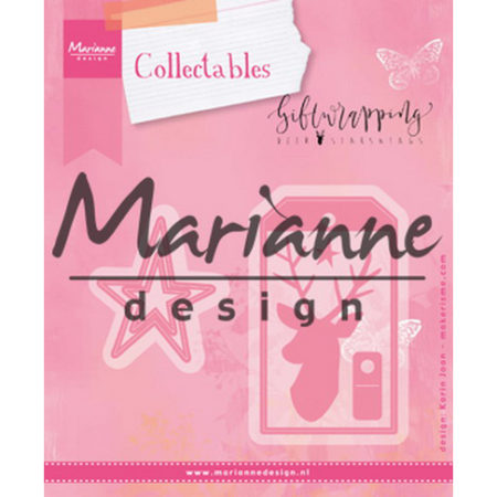Marianne Design - Giftwrapping – Karins Deer, Stars & Tag - COL1442