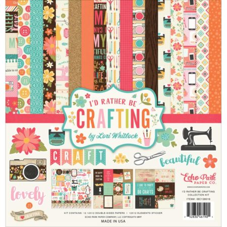 Echo Park Paper Kit - I'd Rather Be Crafting - IBC138016