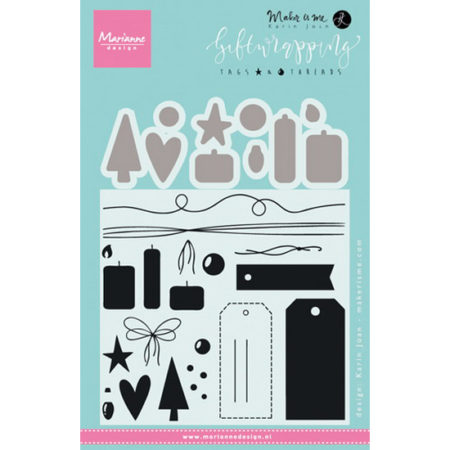 MARIANNE DESIGN STEMPEL & DIES - Tags & Threads - KJ1716