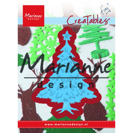 Marianne Design Dies - Tiny's Christmas Tree with decorated - LR0491