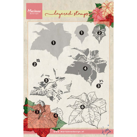 Marianne Design Layering - Tiny's Poinsettia - TC0859