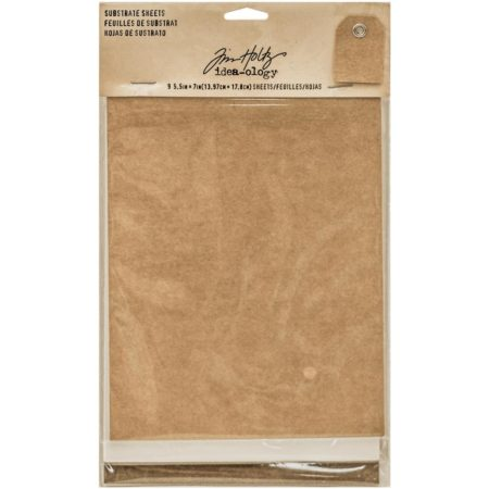 Idea-Ology - Tim Holtz - Substrate Sheets Kraft, White, Brown - TH93291