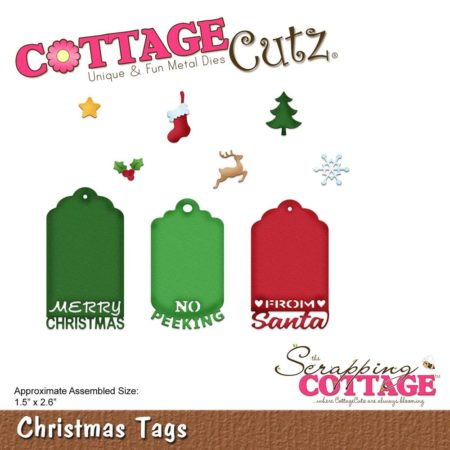 Cottage Cutz Die - Christmas Tags - CC-361