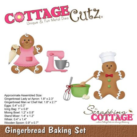 "Cottage Cutz Die - Gingerbread Baking Set .4"" - 2.7"" - CC-363"