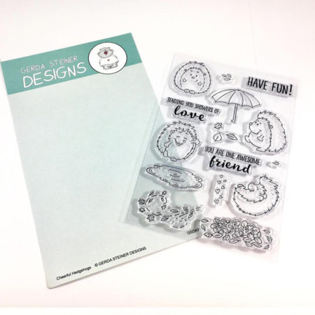 Gerda Steiner Designs - Cheerful Hedgehog 4x6 Clear Stamp Set - GSD491